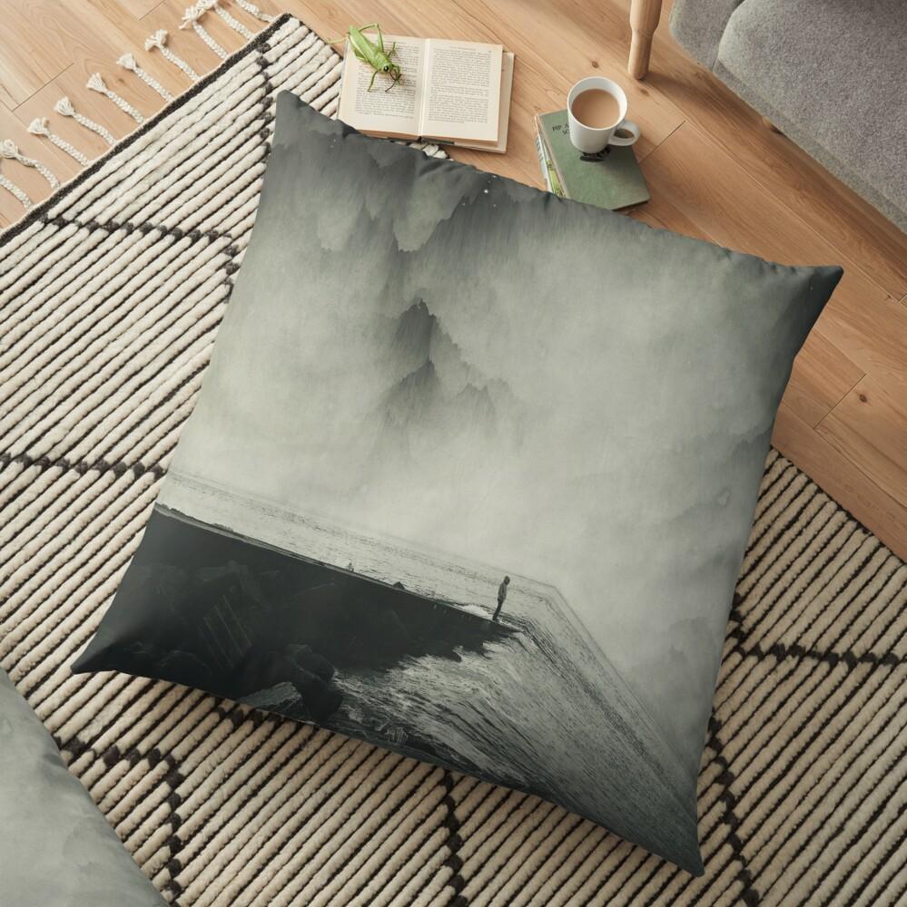 VertigOcean - surreal seascape Floor Pillow