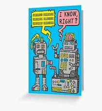 Robotergespräch Grußkarte