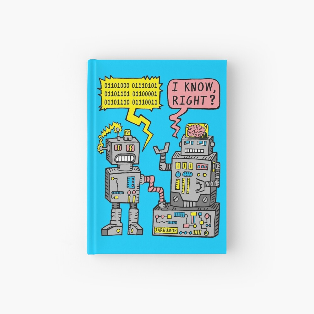 Robot Talk Hardcover Journal