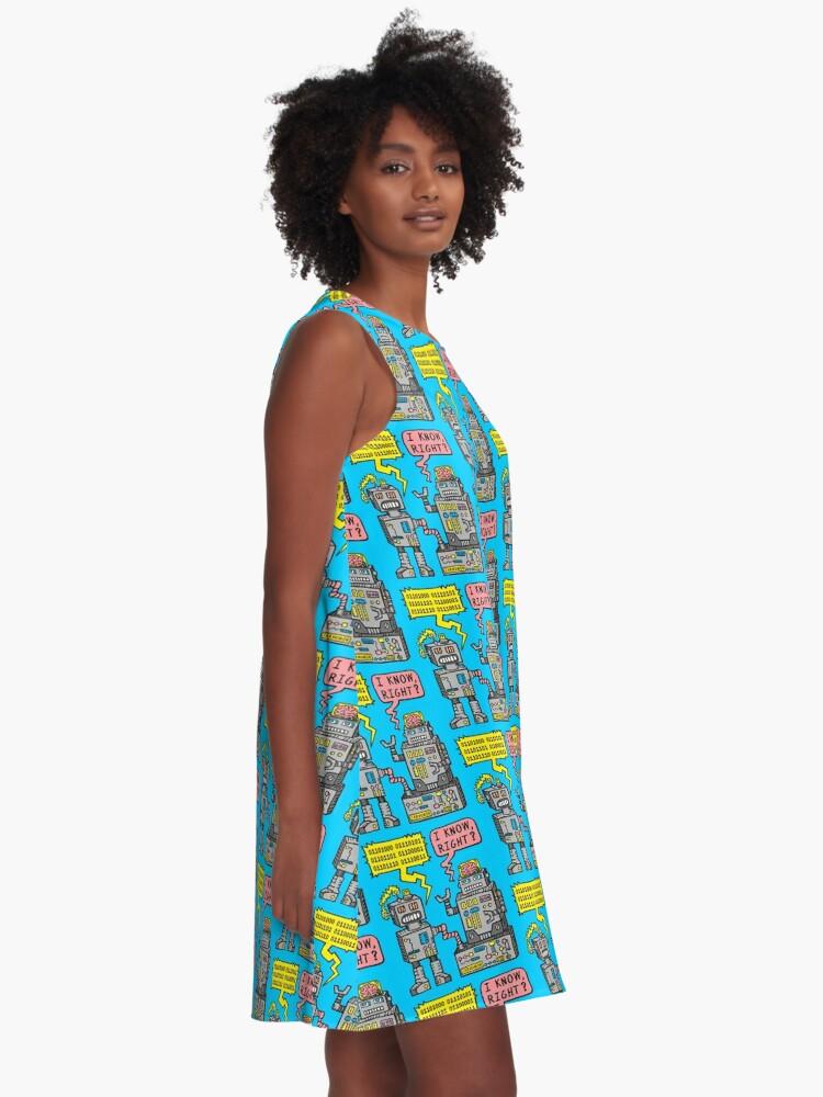 Alternative Ansicht von Robotergespräch A-Linien Kleid