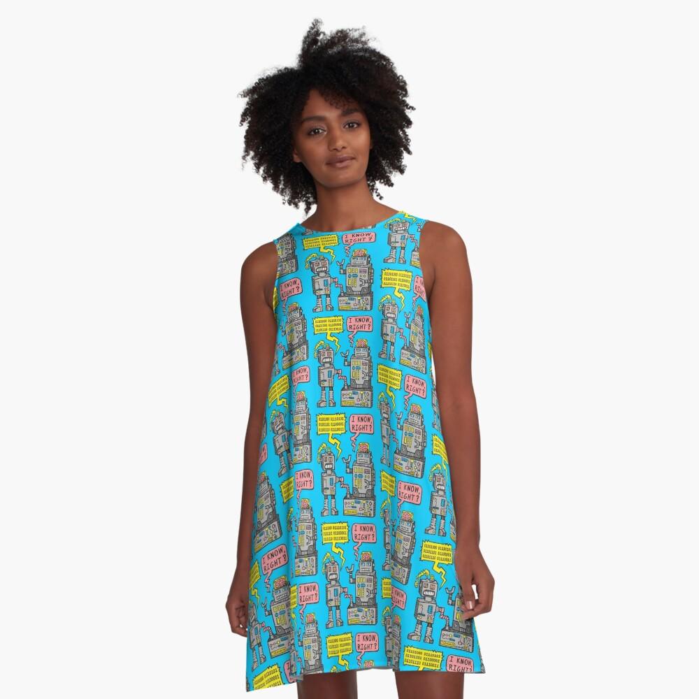 Robotergespräch A-Linien Kleid