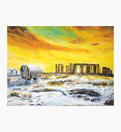 Stonehenge in the winter of 47. Photographic Print