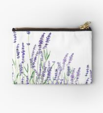 purple lavender horizontal watercolor Zipper Pouch