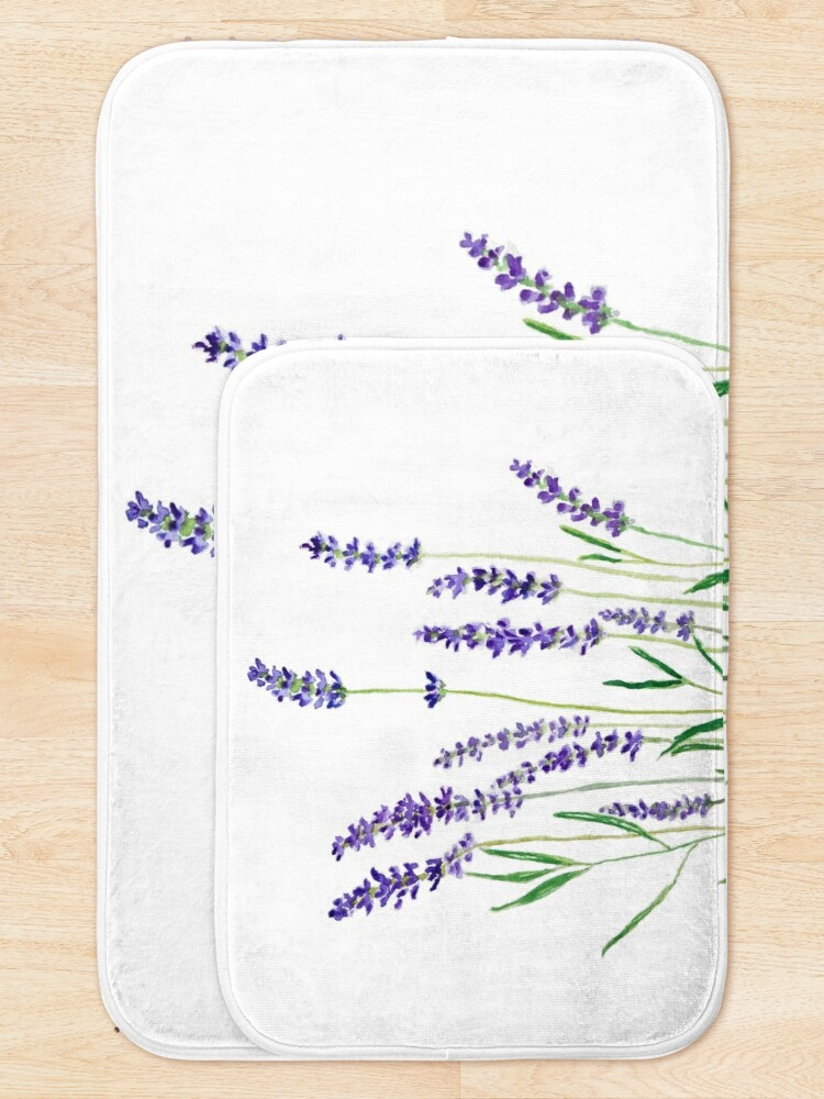 Alternate view of purple lavender  Bath Mat