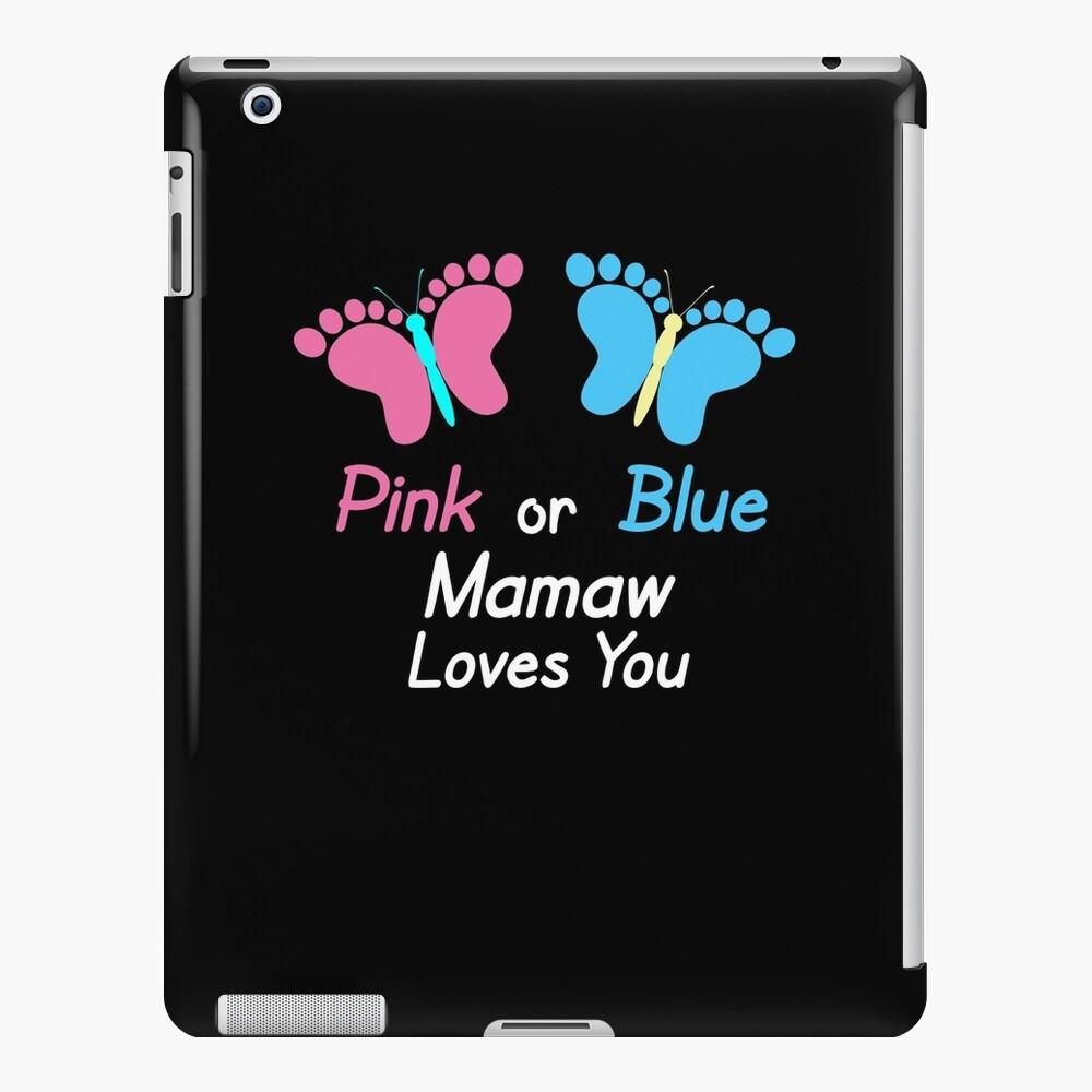 Gender Reveal Mamaw Butterflies iPad Case & Skin