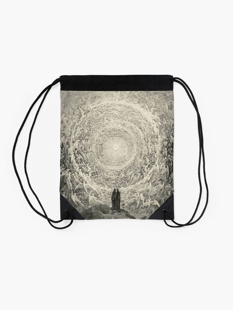 Alternate view of Dante, Heaven, Heavenly, The Divine Comedy, Gustave Doré, Highest, Heaven Drawstring Bag