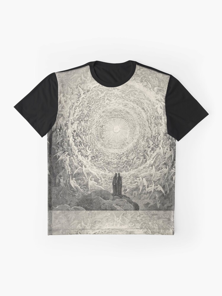 Alternate view of Dante, Heaven, Heavenly, The Divine Comedy, Gustave Doré, Highest, Heaven Graphic T-Shirt