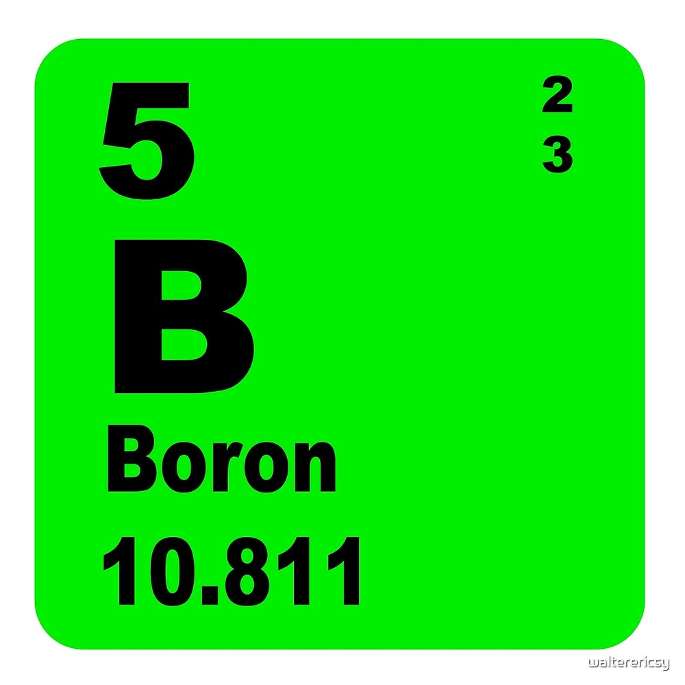 Boron periodic table of elements by walterericsy redbubble boron periodic table of elements by walterericsy buycottarizona