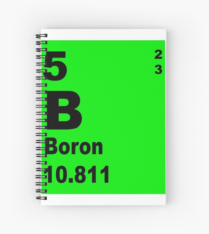 Cuadernos de espiral tabla peridica de boro de elementos de tabla peridica de boro de elementos de walterericsy urtaz Images
