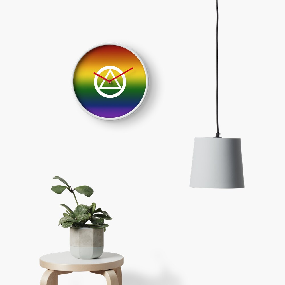 Alcoholics Anonymous Rainbow Pride Symbol Clock