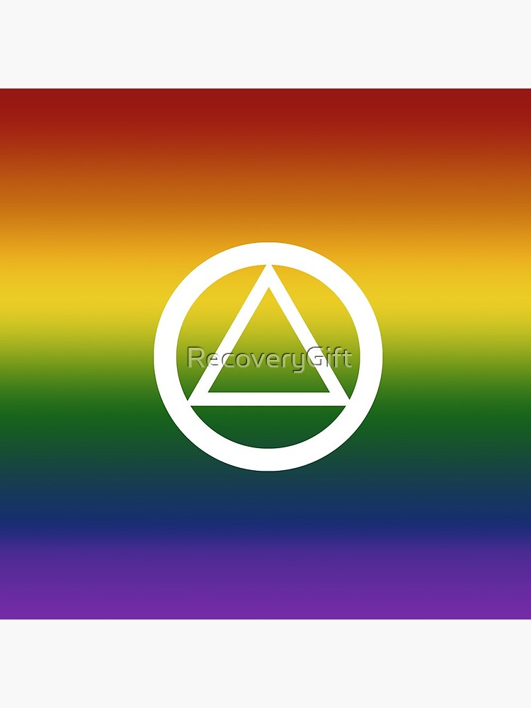 Alcoholics Anonymous Rainbow Pride Symbol by RecoveryGift