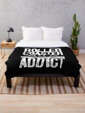 Roller Coaster Addict I cool rollercoaster fan design Throw Blanket
