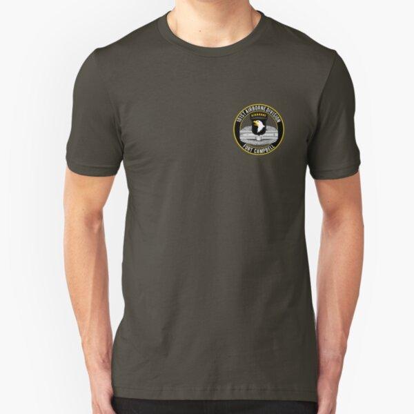 101st Airborne Combat Action Badge Slim Fit T-Shirt