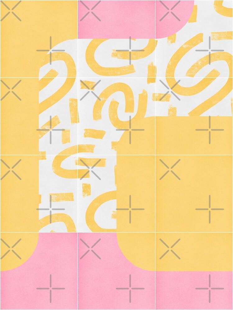Sunny Doodle Tiles 01 #redbubble #midmod by designdn