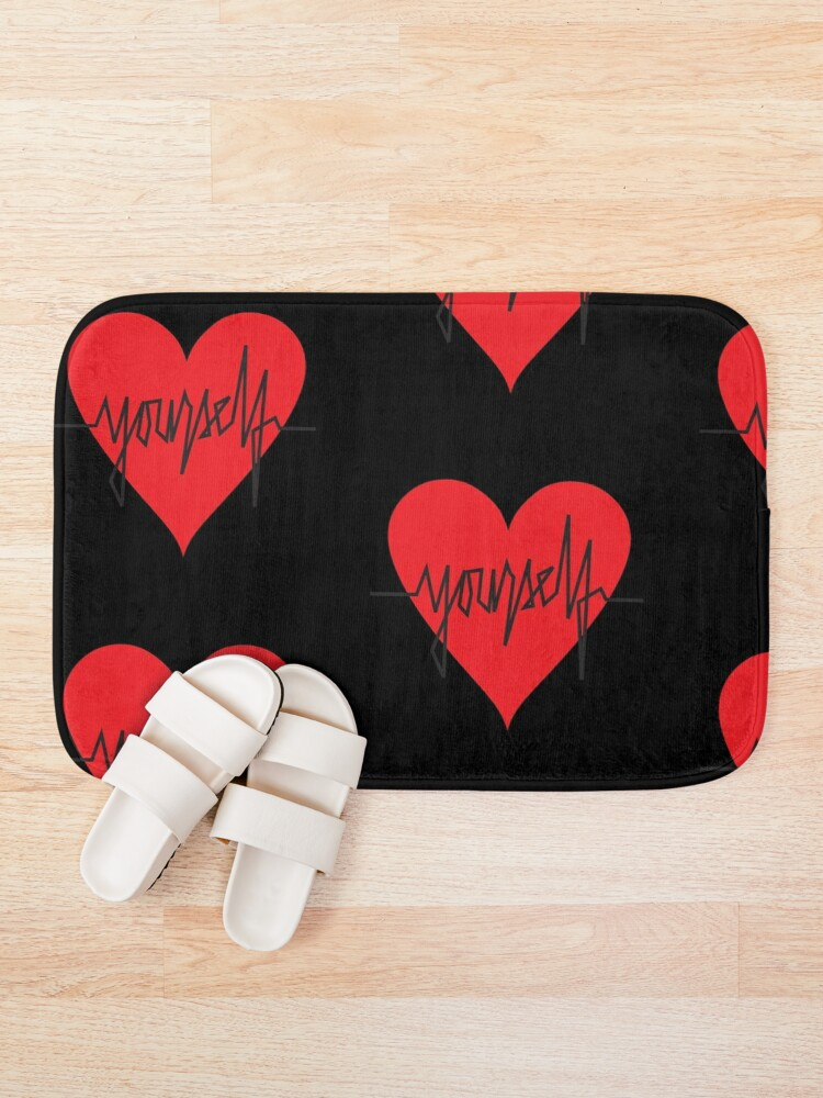 Alternate view of love yourself - zachary martin Bath Mat