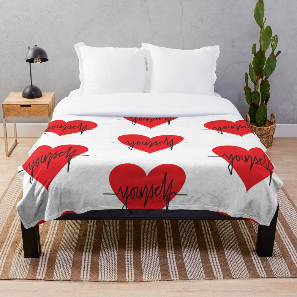 love yourself - zachary martin Throw Blanket