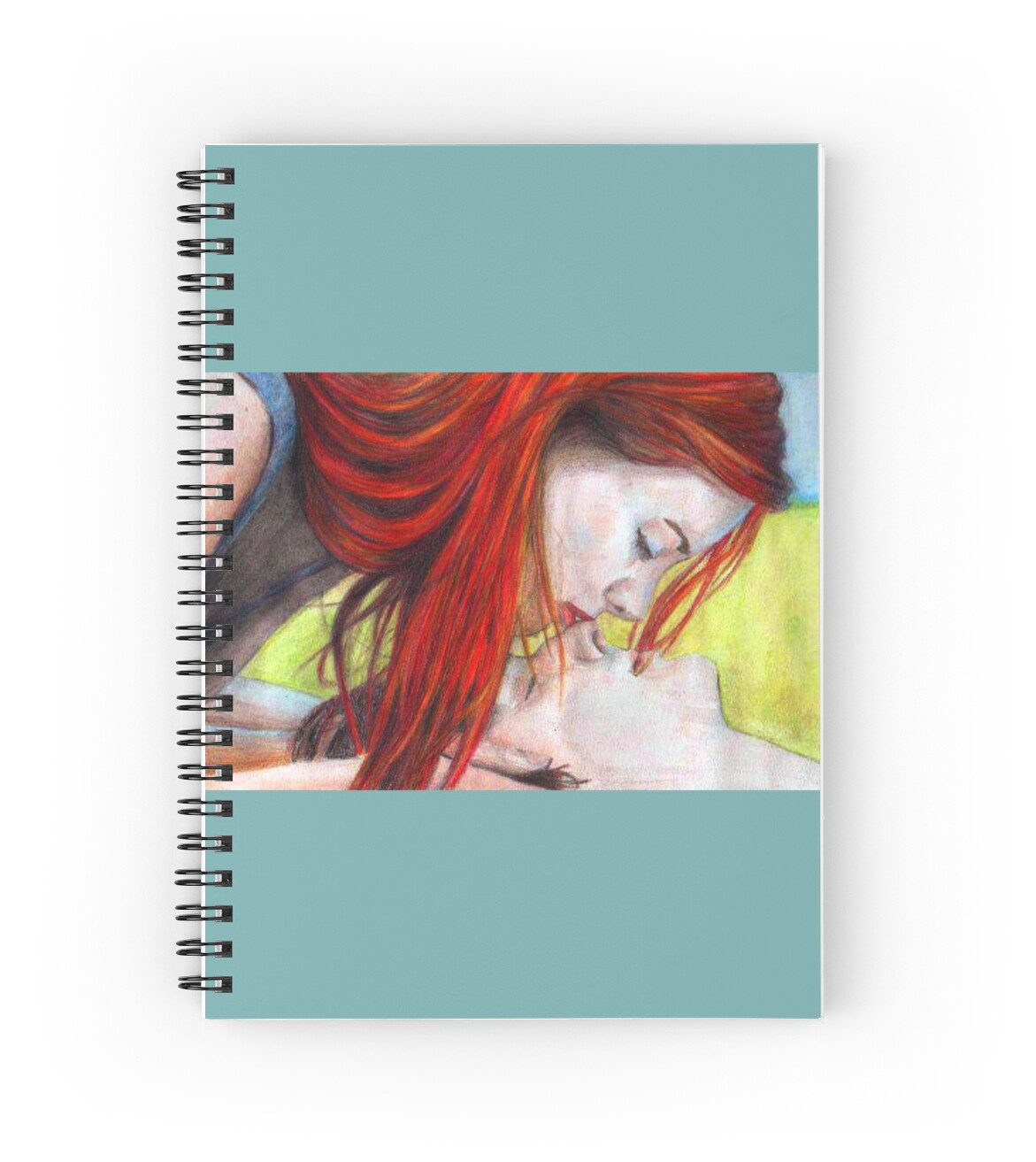 that cute kiss spiral notebooks by charlifaure redbubble. Black Bedroom Furniture Sets. Home Design Ideas