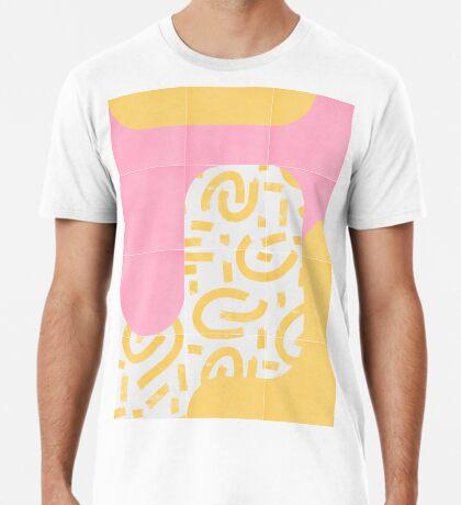 Sunny Doodle Tiles 02 #redbubble #midmod Premium T-Shirt