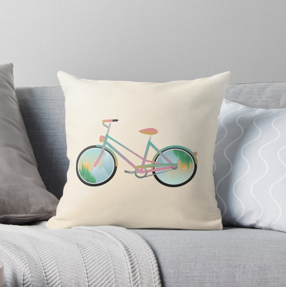 Pimp my bike Throw Pillow