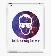 NERDY TALK ― for him iPad Case/Skin