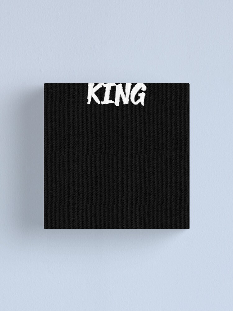Alternate view of king. Canvas Print
