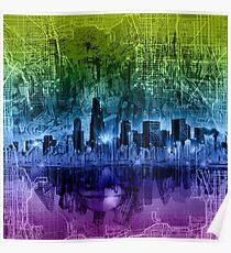 chicago city skyline 2 Poster