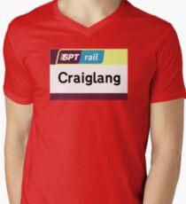 Craiglang Station Sign Men's V-Neck T-Shirt