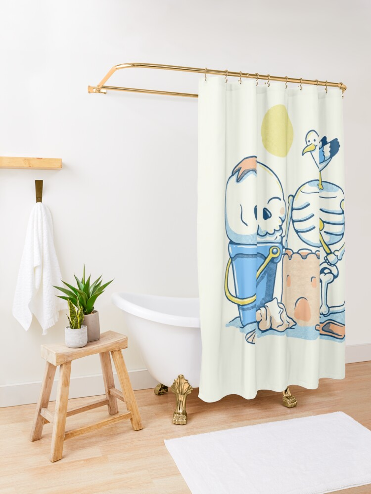 Alternate view of Sunday funday Shower Curtain