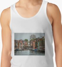 A View Along a Canal in Burano, Italia Tank Top