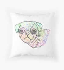 Wire Pug Throw Pillow
