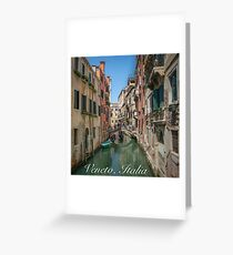 Canal Views of Venice Greeting Card