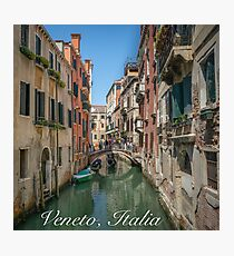 Canal Views of Venice Photographic Print