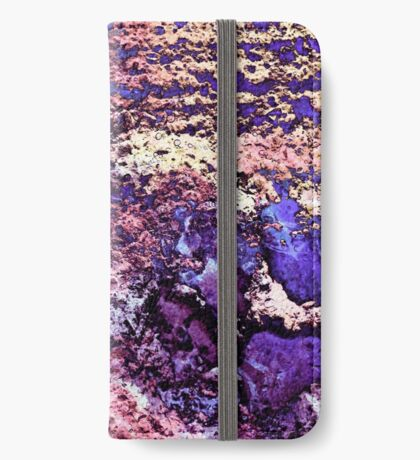 Paw Prints in Purple and Pink iPhone Wallet