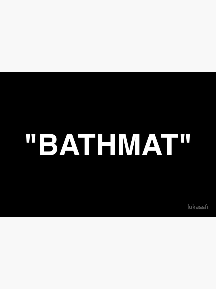 Bathmat Quotation Marks White by lukassfr