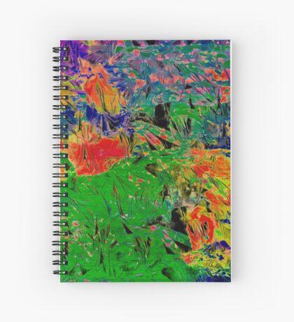 Paw Prints Spring Garden Walks Spiral Notebook