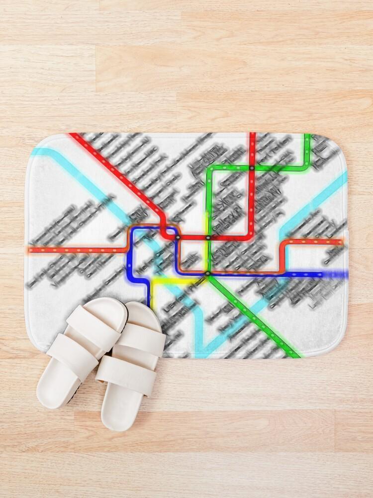 Alternate view of Washington DC Metro Map Bath Mat
