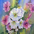 Hollyhocks by bevmorgan
