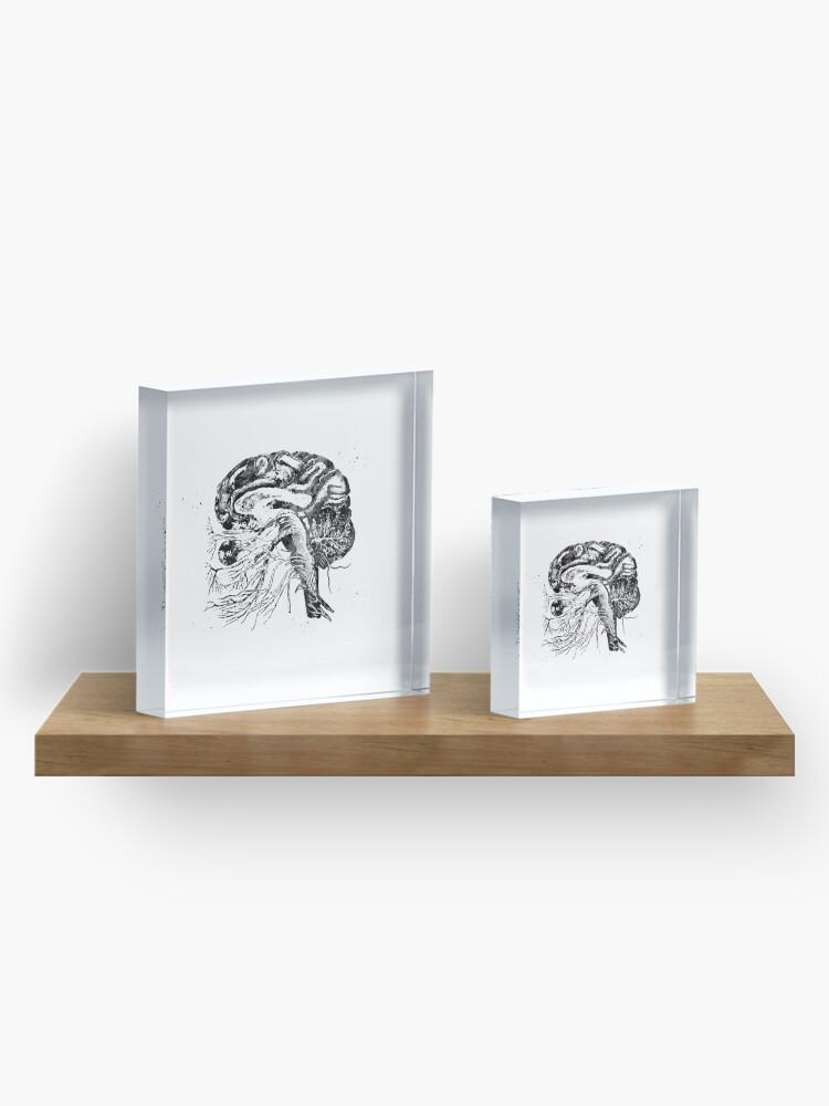 Alternate view of Brain cranial nerves Acrylic Block