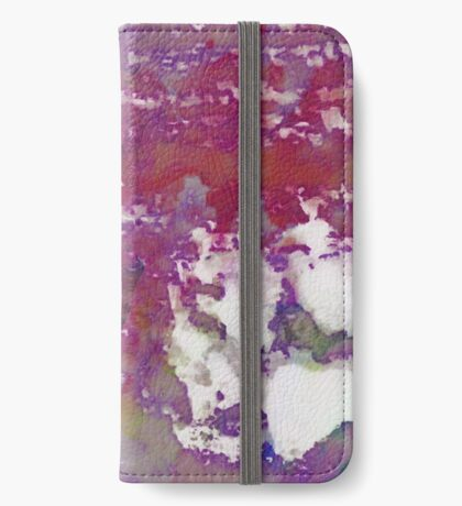Paw Prints Rosey iPhone Wallet