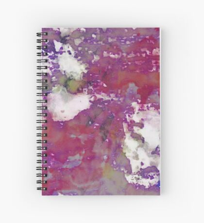 Paw Prints Rosey Spiral Notebook