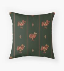 Dodo pattern dark Throw Pillow