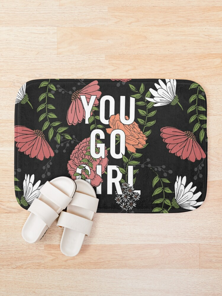 Alternate view of You Go Girl with Florals Bath Mat