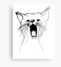 Drawn Cat Canvas Print