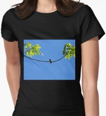 Perched Hummer Womens Fitted T-Shirt