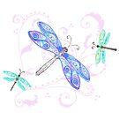 Dreamy Dragonflies in Watercolor by DreamOutLoudArt