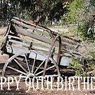 Happy  90th Birthday rustic farm cart by Coloursofnature