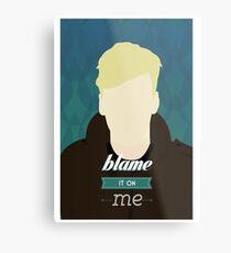 George Ezra Blame It On Me Minimalist Metal Print