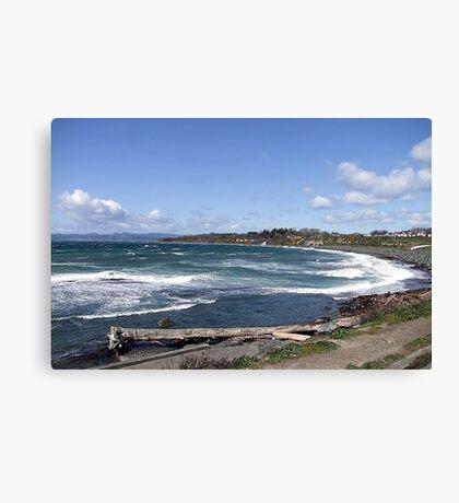 Whitecaps on the Beach Canvas Print