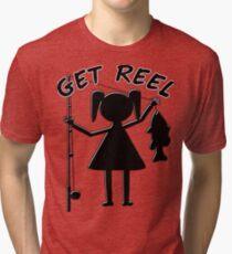 GET REEL GIRL Tri-blend T-Shirt