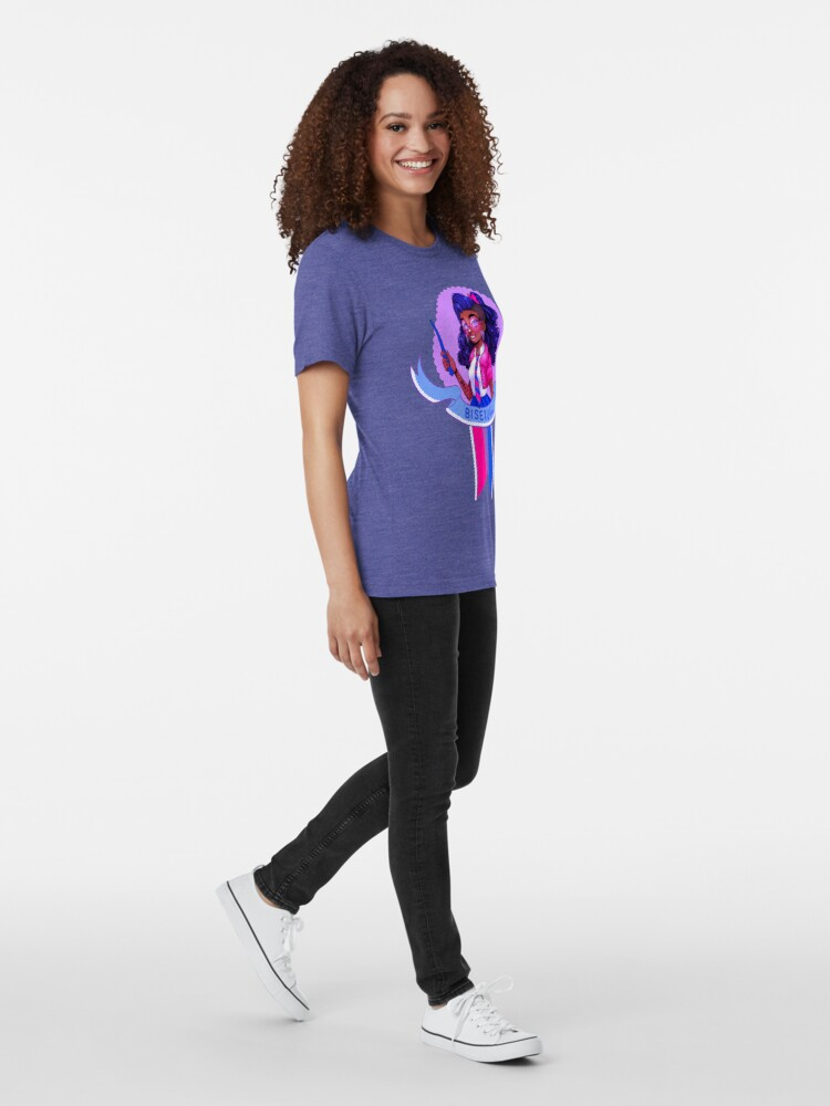 Alternate view of I was sorted into the Bisexual House Tri-blend T-Shirt